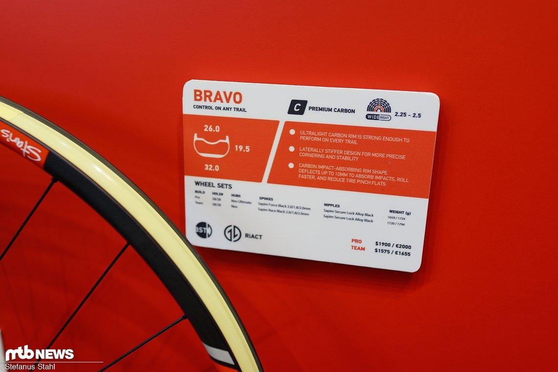 Bravo Trail Laufradsatz