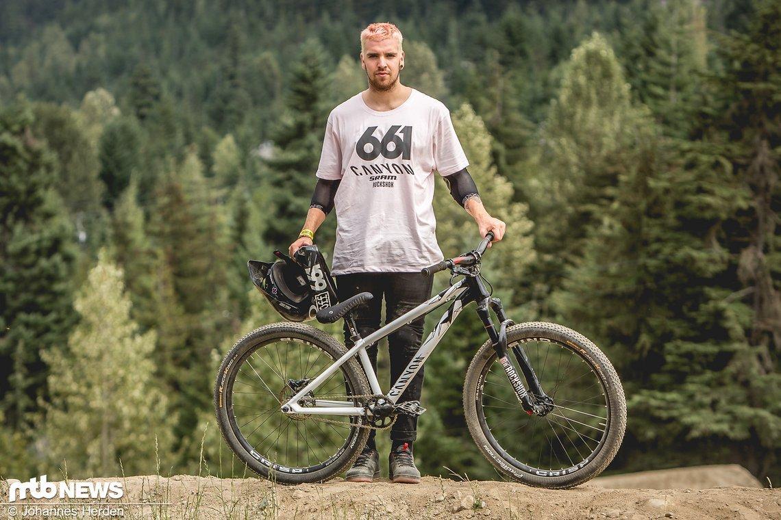 Tomas Lemoine fährt wie Nico Scholze für Canyon, hat sich jedoch für das Hardtail entschieden