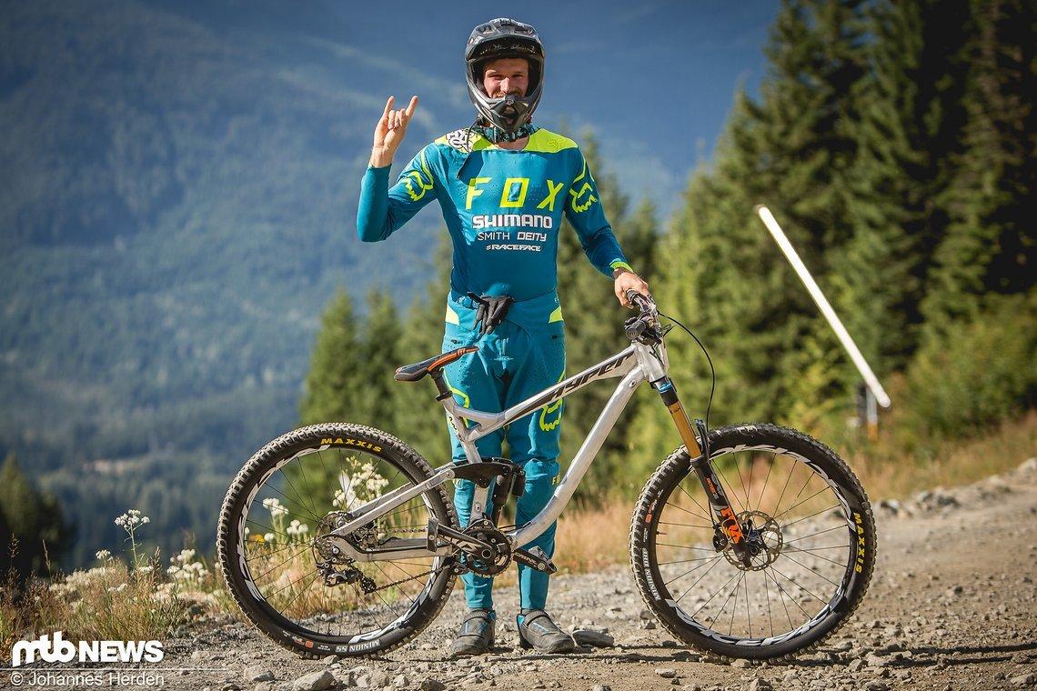 Bas van Steenbergen ging auf einem Hyper-Trailbike an den Start