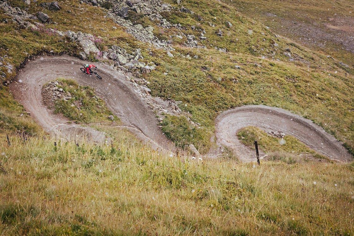 Auf dem WM Flow Trail gilt es, die gleiche Zeit wie der Team-Partner zu fahren