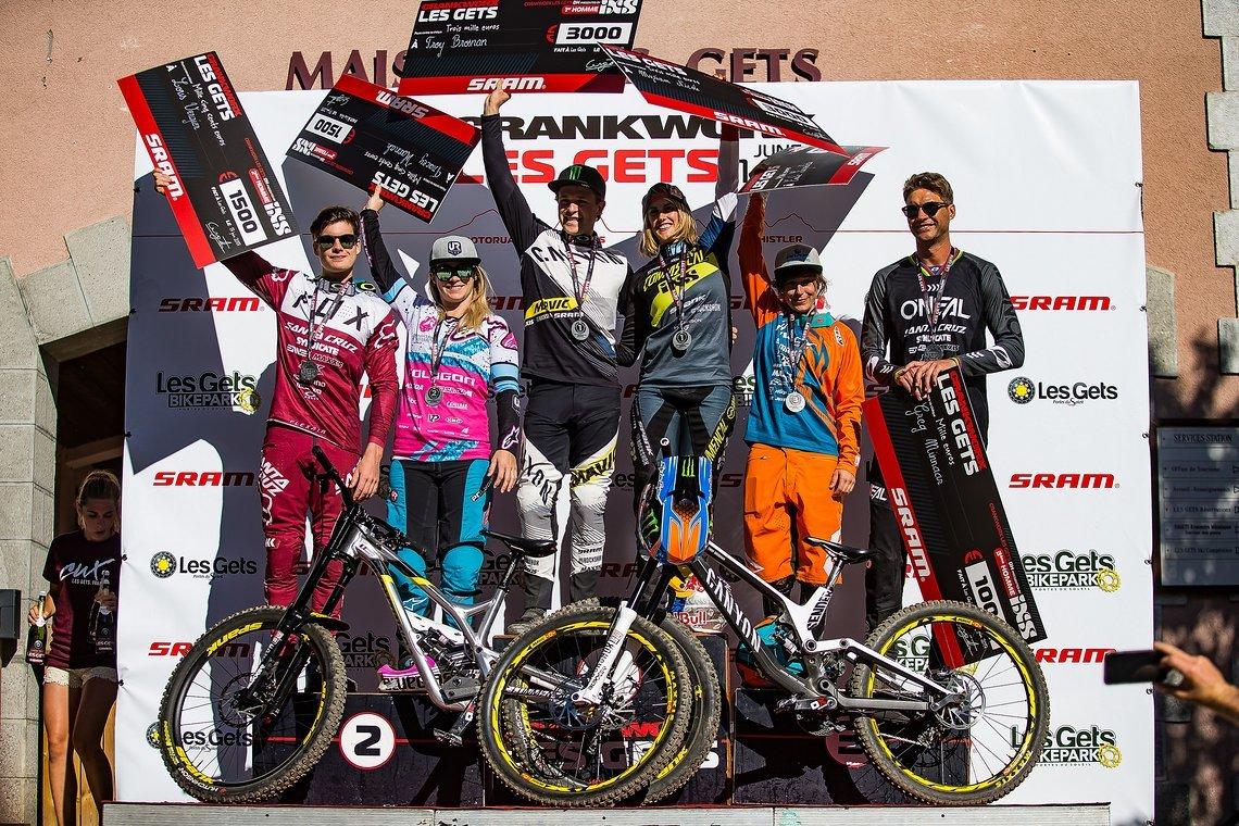 Die Sieger des Crankworx Downhill