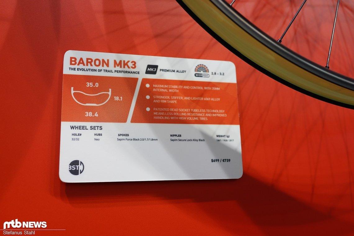 Die Baron Mk3 liegt im Plus-Mittelfeld und kommt ebenfalls für 699 €