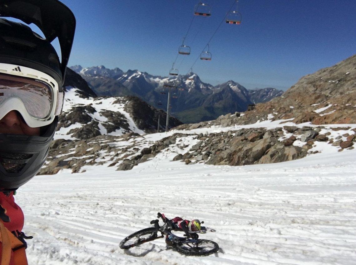Crash im Schnee