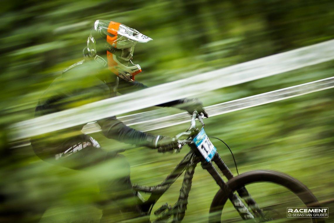 Im unteren Teil der Strecke werden die Geschwindigkeiten sehr hoch.