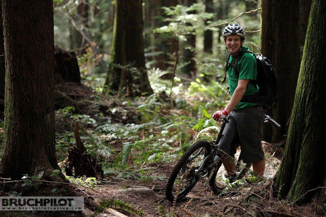 Spaß im Wald: PR-Mann Dustan