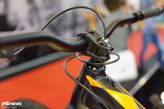 Allein die Hinterradbremse limitiert die Anzahl Lenkerdrehungen