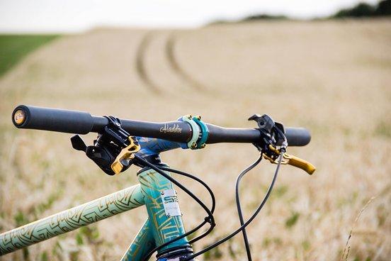 Den Carbonlenker ziert der Name des Bikes – Aladdin