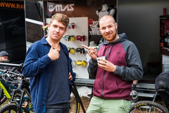 Petrik Brückner und Christopher Mai schauen zuversichtlich dem Seeding Run entgegen