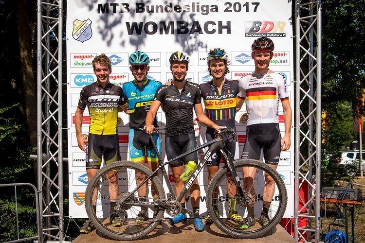 Die schnellsten Herren im Wombach: Jens Schuermans, Ben Zwiehoff, Simon Stiebjahn, Lukas Baum und Markus Schulte-Lünzum (von links).